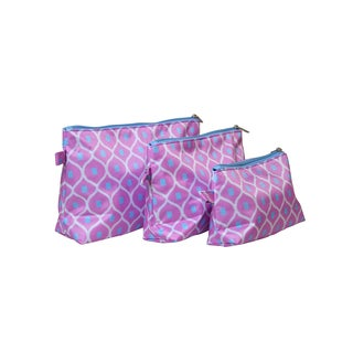 All for Color Good Catch Cosmetic Toiletry Bags (Pack of 3)