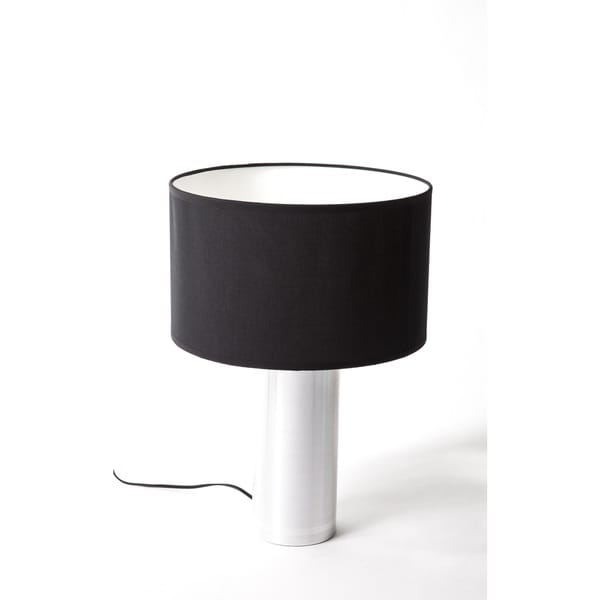 Hans Andersen Home Willis Black/White Aluminum and Fabric Table Lamp
