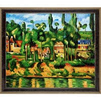 Paul Cezanne 'The Chateau at Medan' Hand Painted Framed Oil Reproduction on Canvas