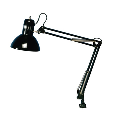 Offex Swing Arm Lamp Black - 13W CFL Bulb Included