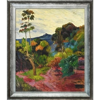Paul Gauguin 'Martinique Landscape, 1887' Hand Painted Framed Oil Reproduction on Canvas