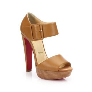 Christian Louboutin Haute Retenue 140 Beige Platform Sandal