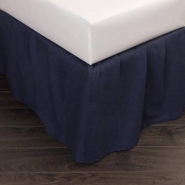 Brighton Navy Cotton 24-inch Drop Bed Skirt