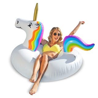 GoFloats Unicorn Party Tube Inflatable Raft|https://ak1.ostkcdn.com/images/products/15003173/P21502108.jpg?impolicy=medium