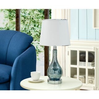 K and B Furniture Co. Inc.  Blue and White Table Lamps (Set of 2)