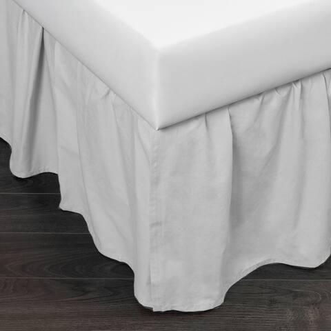 Brighton White Cotton 24-inch Drop Bed Skirt