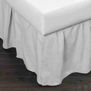 Brighton White Cotton Bed Skirt