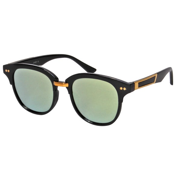 37a350e0495b Shop Mechaly Women s MES2501 Square-style Black Frame with Green Mirror  Lens Sunglasses - Free Shipping On Orders Over  45 - Overstock.com -  15003209