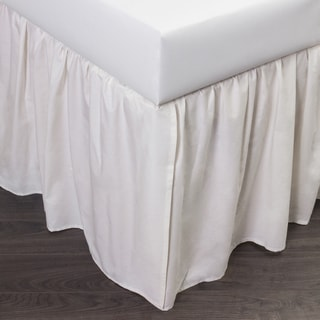 Brighton Ivory Cotton 24-inch Drop Bed Skirt