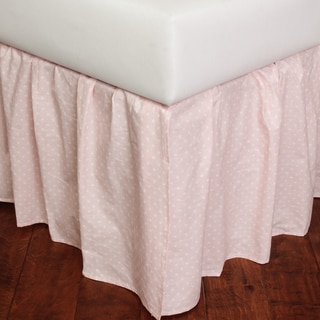 Dottie Pink Cotton Bed Skirt