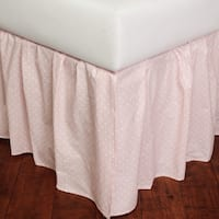 Dottie Pink Cotton 18-inch Drop Bed Skirt