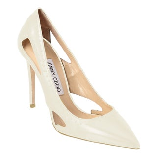 Jimmy Choo Vienna 100 White Studded Pumps