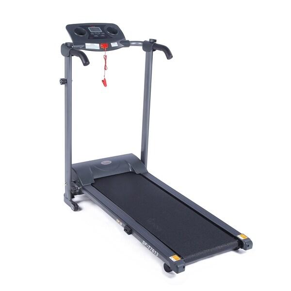 Sunny Health & Fitness SF-T7613 Easy Assembly Motorized Folding Treadmill - Black