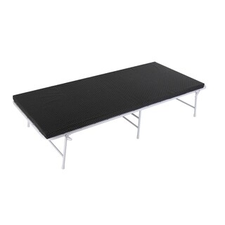 Camping Cot with Foam Mattress - Black