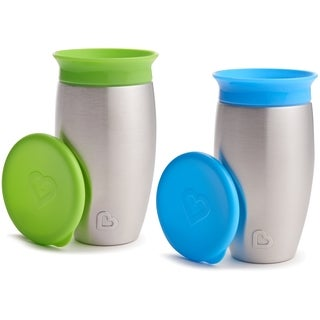 Munchkin Miracle 360 No Spill Green/Blue 10-ounce Sippy Cup (2 Pack)