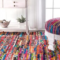 nuLOOM Casual Handmade Braided Cotton Multi Runner Rug