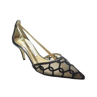 Jimmy Choo Black Lace Pointed Shoe