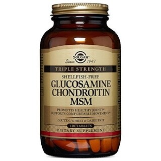 Solgar Triple Strength Glucosamine Chondroitin MSM (120 Tablets)