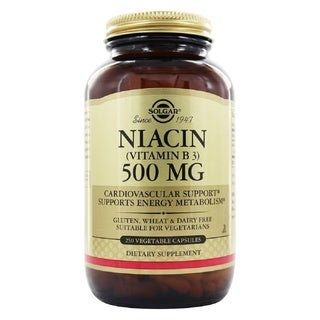 Solgar Niacin (Vitamin B3) 500 mg (250 Vegetable Capsules)