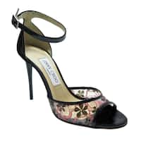 Jimmy Choo Black Floral Sandals