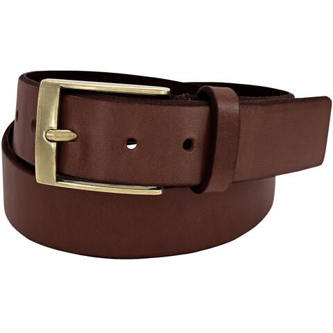 Florsheim Tan Full-grain Leather 38-millimeter Beveled Edge Casual Belt