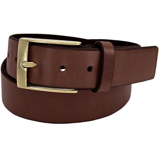 Florsheim Tan Full-grain Leather 38-millimeter Beveled Edge Casual Belt