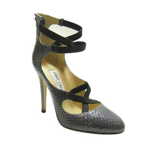 Jimmy Choo Grey Leather Strappy Shoe