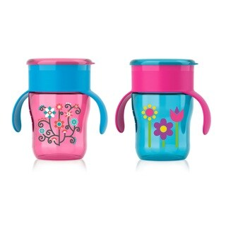 Philips Avent My Natural Pink Flowers/Blue Flowers 9-ounce Drinking Cup