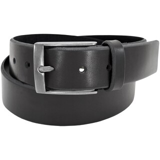 Florsheim Black Leather 38-millimeter Full-grain Beveled Edge Casual Belt
