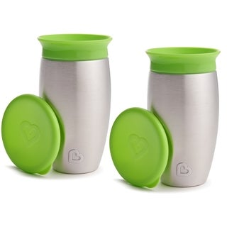Munchkin Miracle 360 Green 10-ounce No Spill Sippy Cup (2 Pack)