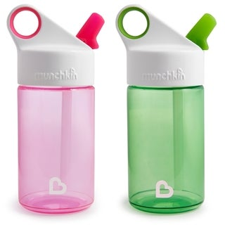 Munchkin Pink/Green 12-ounce Sports Water Bottles (Set of 2)