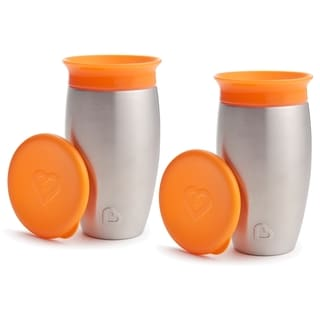 Munchkin Miracle 360 Orange 10-ounce No Spill Sippy Cup (2 Pack)