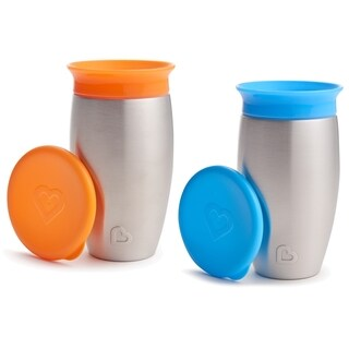 Munchkin Miracle 360 Orange/Blue 10-ounce No Spill Sippy Cup (2 Pack)
