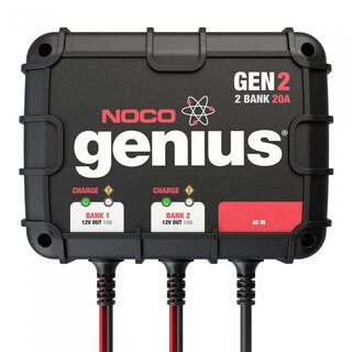 NOCO Genius GEN2 2-Bank 20A On-Board Battery Charger