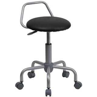 Algen Raised Bar Backrest Adjustable Faux Leather/Metal Stool