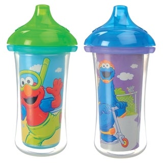 Munchkin Sesame Street Multicolor Plastic Click-lock 9-ounce Insulated Sippy Cups (Set of 2)