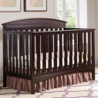 Delta Children Abby 4-in-1 Convertible Crib, Dark Chocolate