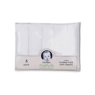 Gerber Prefold Birdseye Organic Diapers (Pack of 5)