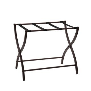K and B Furniture Co Inc Bronze Metal 26-inch Luggage Rack Organizer