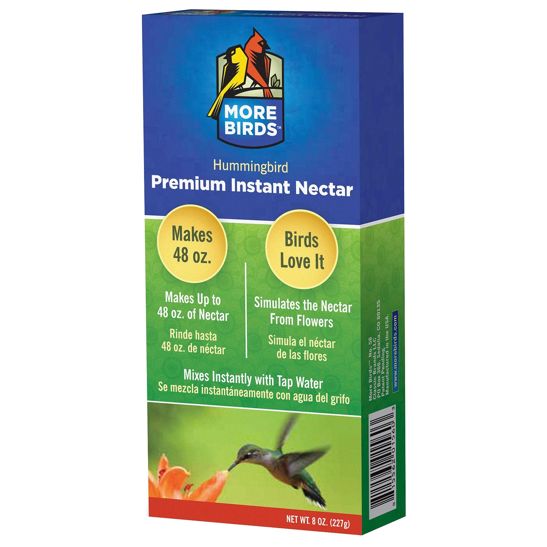 Classic Brands More Birds 8 Oz Premium Hummingbird Nectar...