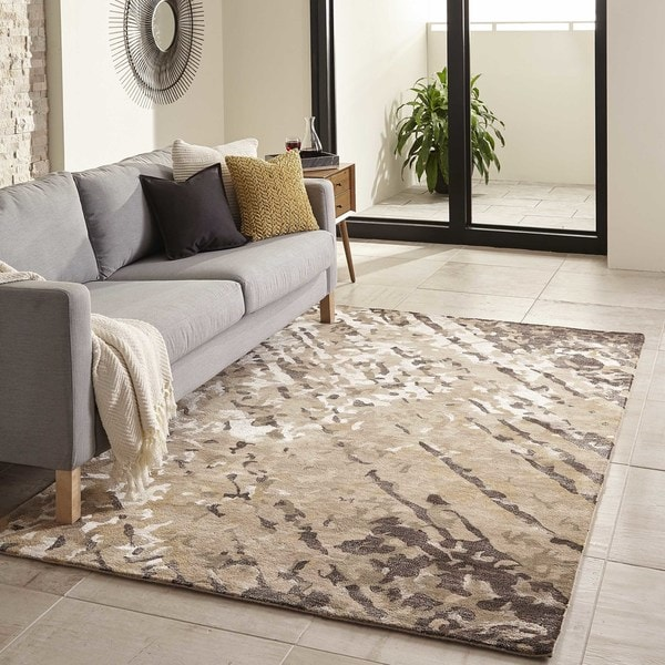Momeni Zen Brown Hand-Tufted Wool and Viscose Rug - 8' x 11'