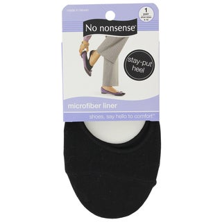 No Nonsense SK15SU Black Microfiber Liner Socks