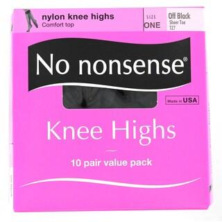 No Nonsense ZA1/TZ7 Off Black Knee Highs 10-count