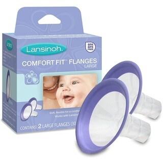 Lansinoh Affinity Blue Plastic 2-count Large Comfort Fit Flanges