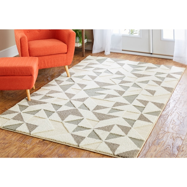 Modern Classroom Rug ~ Mohawk home loft modern triangles area rug