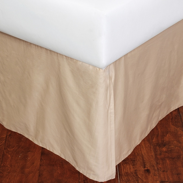 Taupe Cotton Sateen King 12-inch Drop Bed Skirt