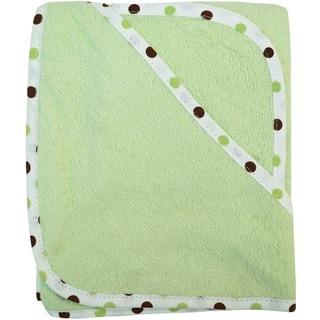 American Baby Company Celery Green Organic Cotton Hooded Towel Set