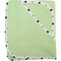 American Baby Company Celery Green Organic Cotton Hooded Towel Set