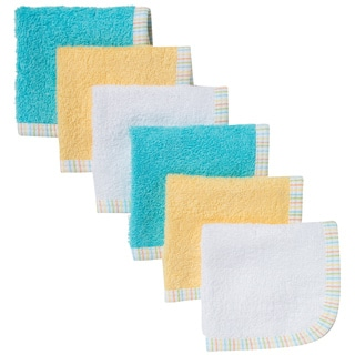 Geber Neutral-color Woven Terry Washcloths (Pack of 6)