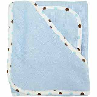American Baby Company Blue Organic Cotton Hooded Towel Set